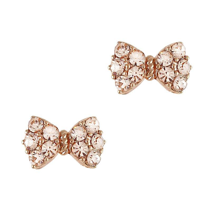 Daily Charme - Princess Bow / Swarovski Charm / Rose Gold / Silk Charm
