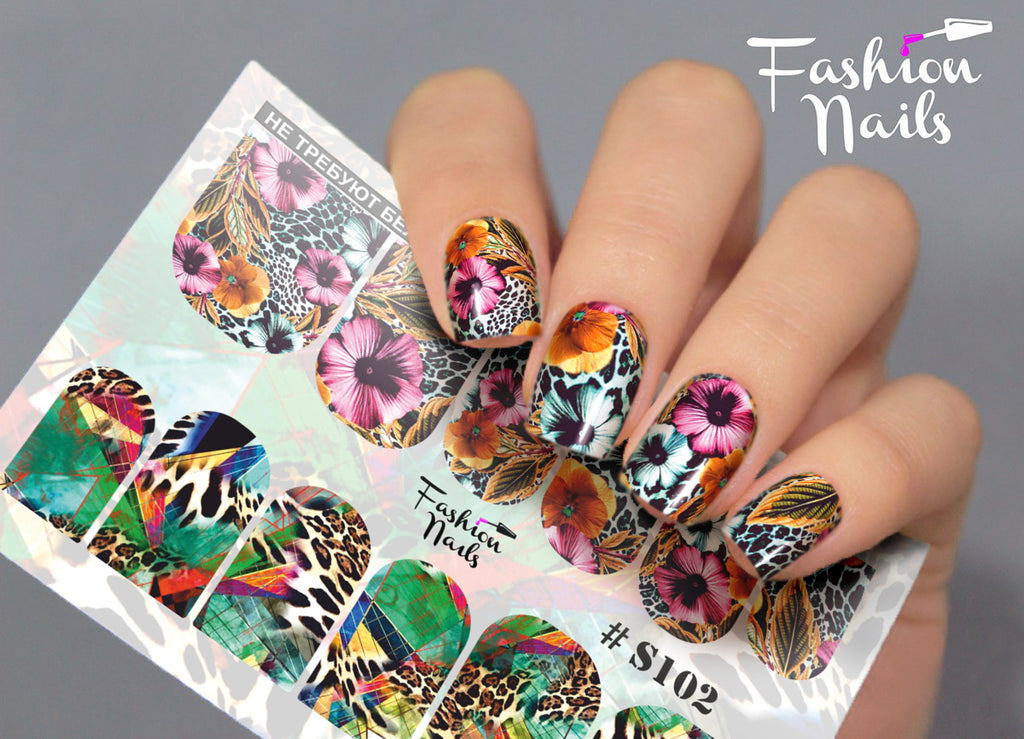 Fashion Nails - Stretch 102 Water Decals