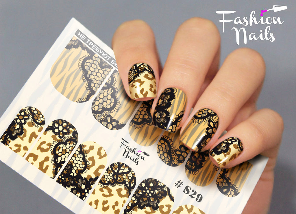 Fashion Nails - Stretch 29 Water Decals