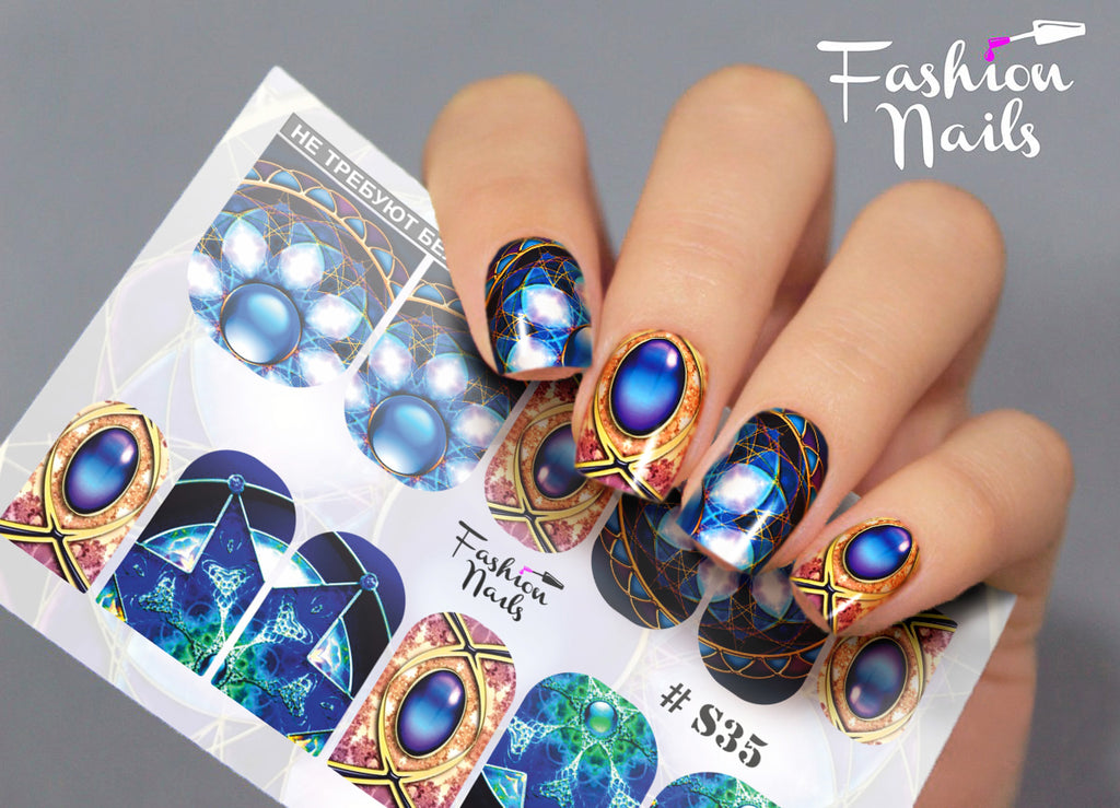 Fashion Nails - Stretch 35 Water Decals