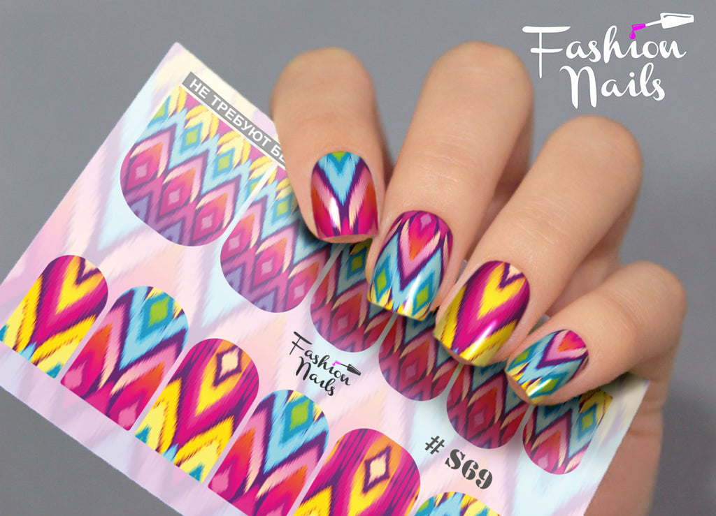 Fashion Nails - Stretch 69 Water Decals