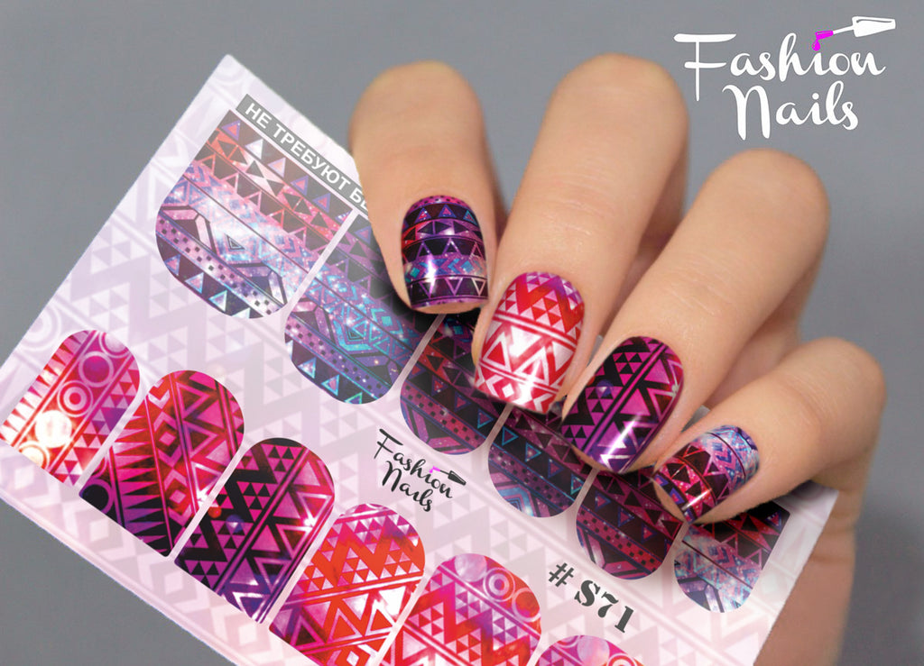 Fashion Nails - Stretch 71 Water Decals