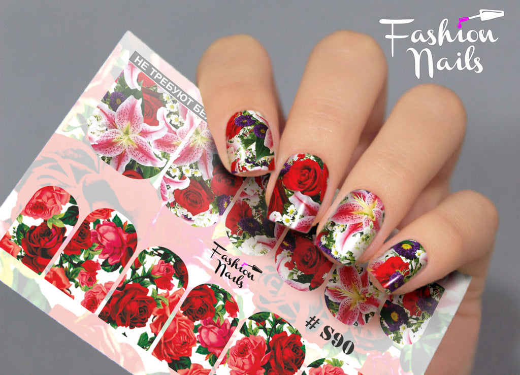 Fashion Nails - Stretch 90 Water Decals