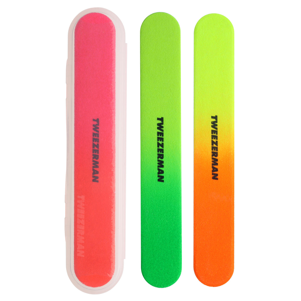 Tweezerman - Neon Nail Files (3 pack)