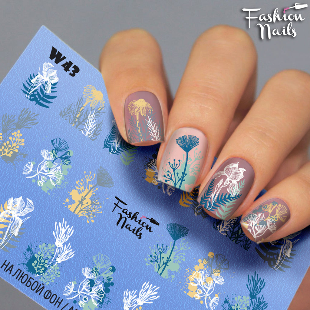 Fashion Nails - White 43 Water Decals