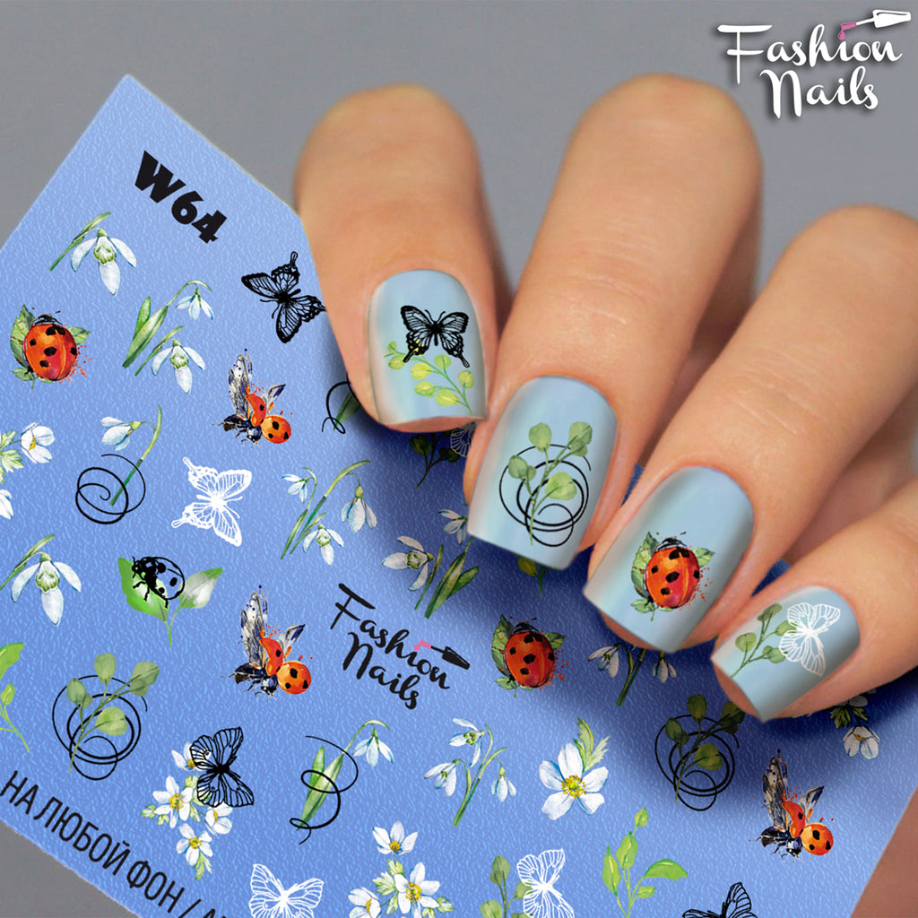 Fashion Nails - White 64 Water Decals