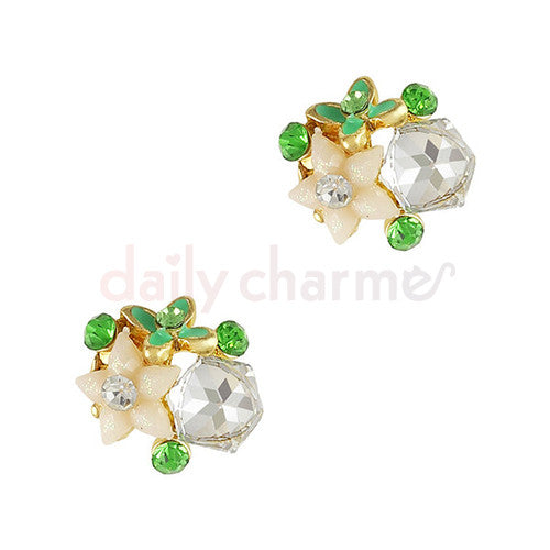 Daily Charme - Crystal Floral Cluster