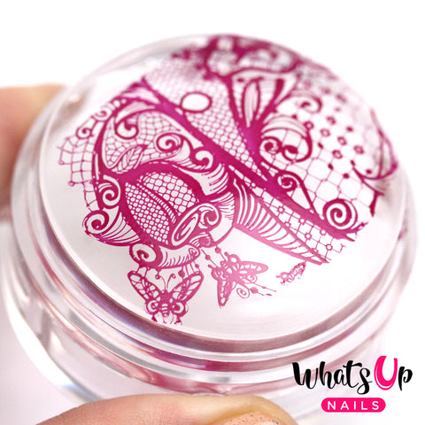 Whats Up Nails - Magnified Clear Stamper & Scraper