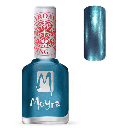 Moyra - SP 26 Chrome Blue Stamping Polish