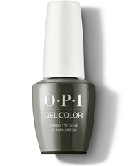 OPI Gel Color - Things I've Seen in Aber-green
