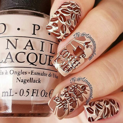 Lina Nail Art Supplies Coffee Tea Or Gonutz 01 Whats Up Nails