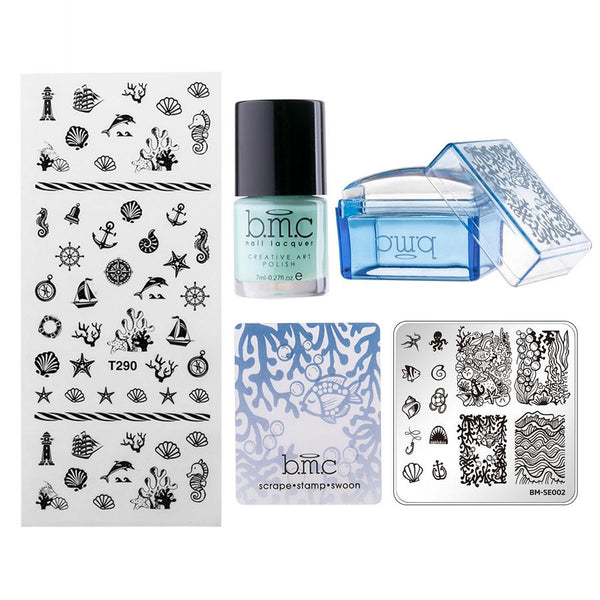 Bundle Monster - Seascapes: Nail Stamping Mini Kit