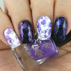 Hit The Bottle - Purple Reign Stamping Polish