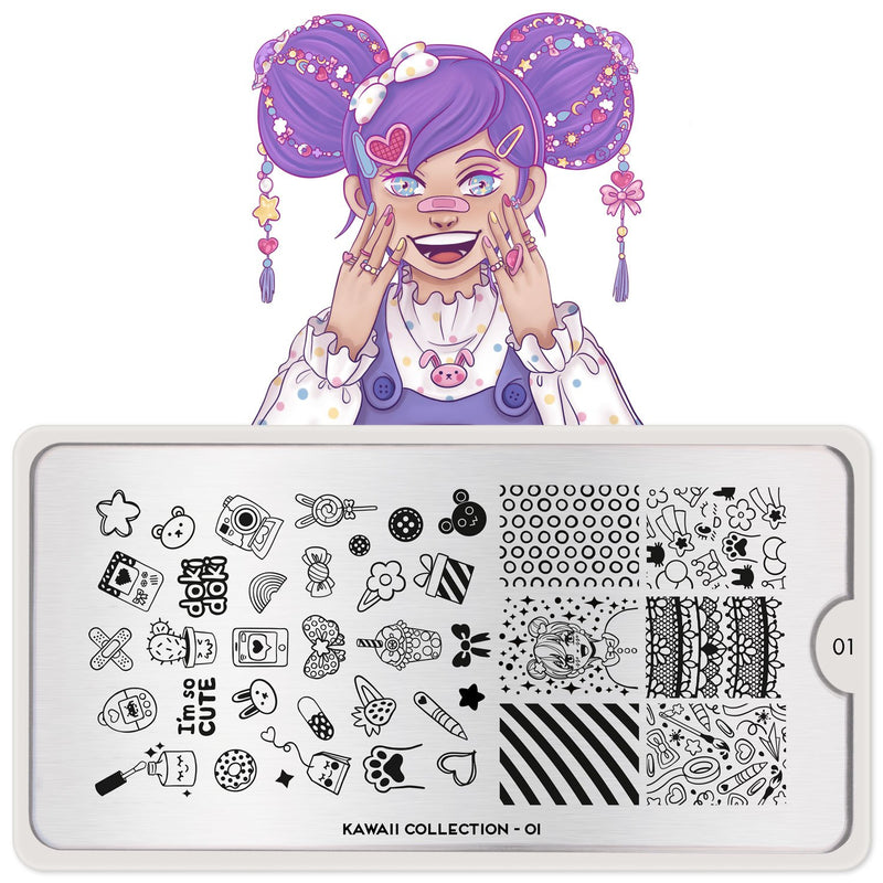 MoYou-London - Kawaii 01 Stamping Plate