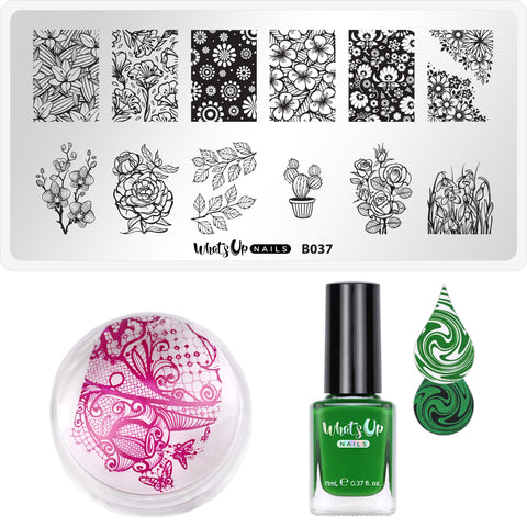 Whats Up Nails - Stamping Starter Kit (B037, The Other Side, Magnified Stamper)