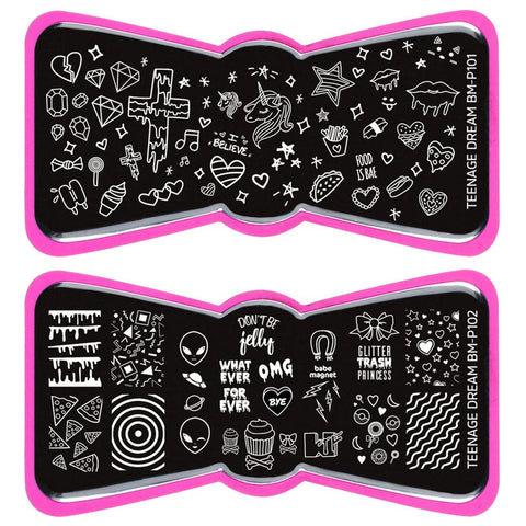 Bundle Monster - Teenage Dream Nail Stamping Starter Kit