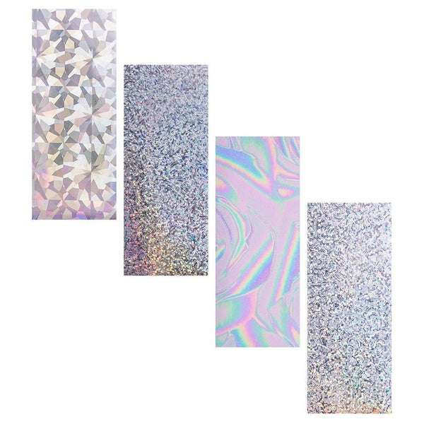 Bundle Monster - 8-Piece Premium Holographic Nail Foil Sheet Variety Bundle