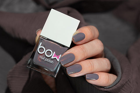 Bow Nail Polish - Grey Area