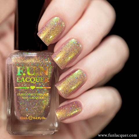 F.U.N Lacquer - Cotton Candy Holo Nail Polish