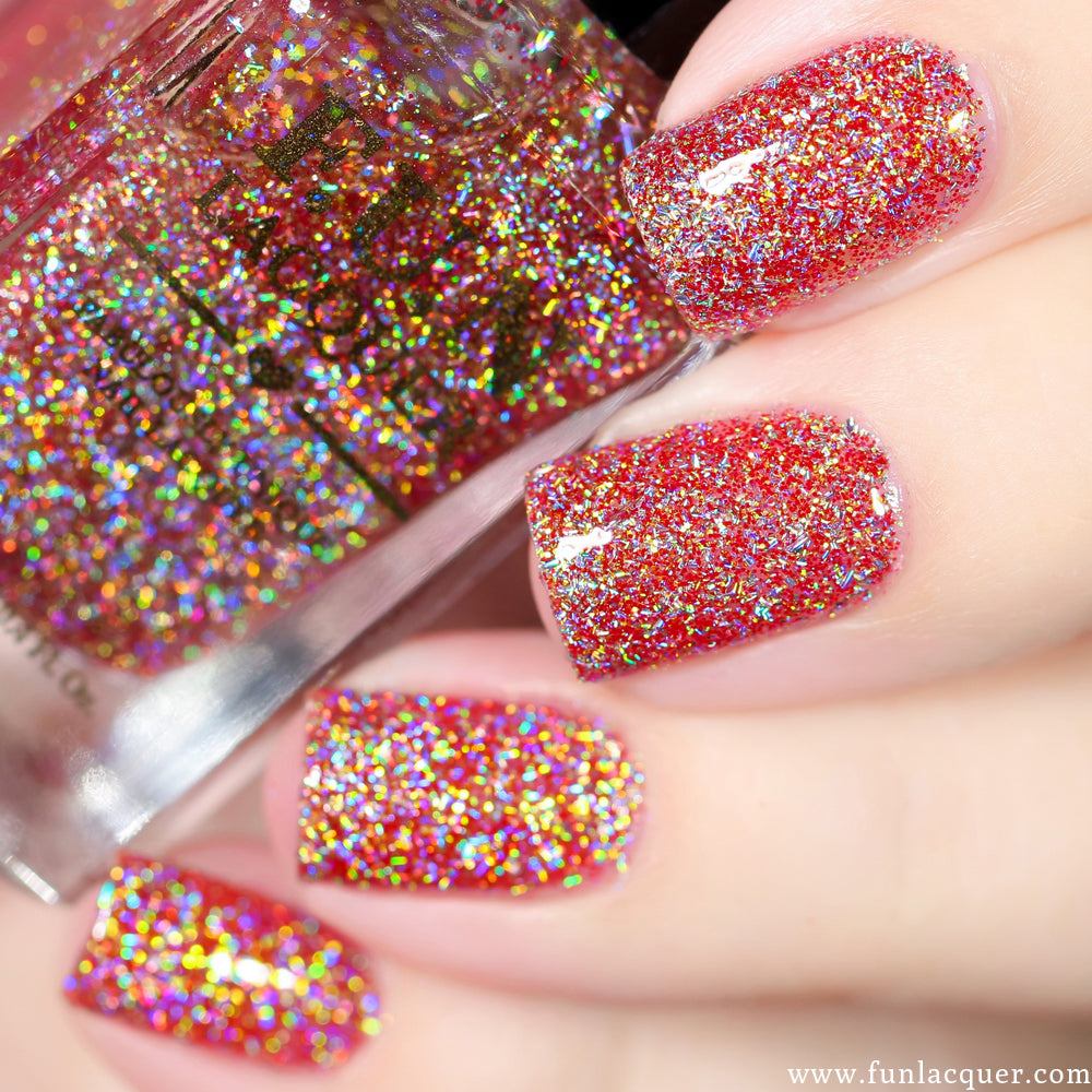 F.U.N Lacquer - Jingle Bells Holo | Whats Up Nails