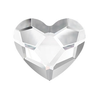Swarovski Crystals - Heart Flat Back - Crystal (12 pieces)