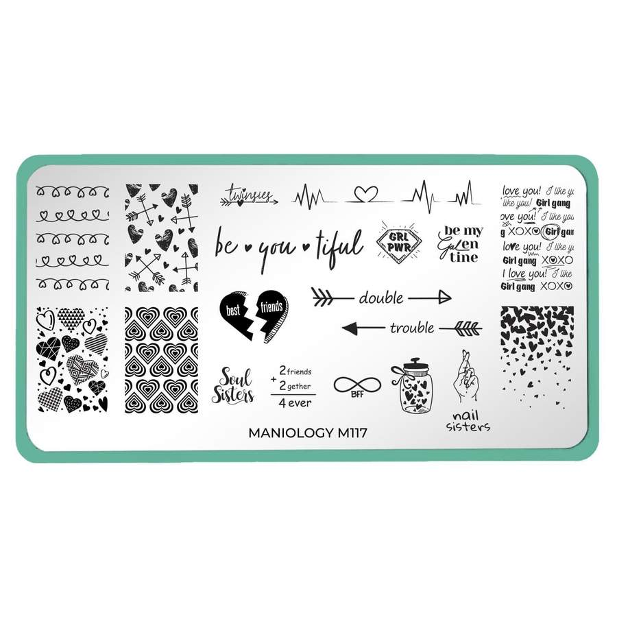 Maniology - Galentine's Day Occasions: M117 BFF Stamping Plate