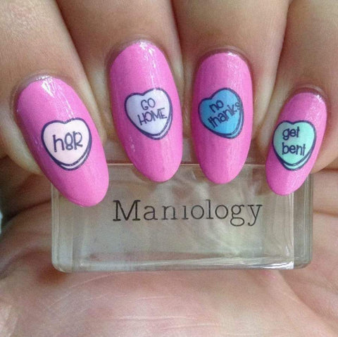 Maniology - Valentine's Day Occasions: M180 Love Bites Stamping Plate