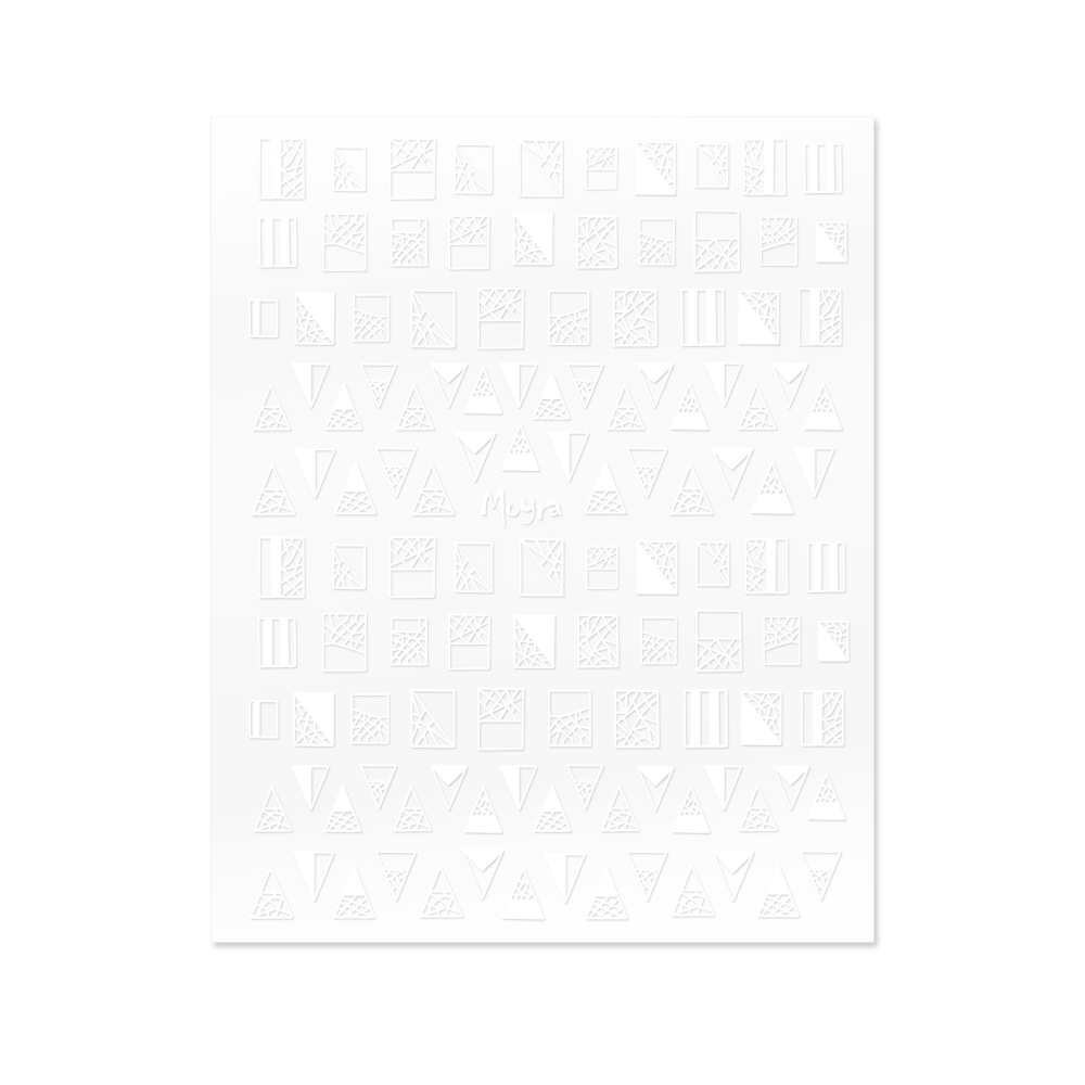 Moyra - Geometric Shapes No. 01 Nail Stickers (White)