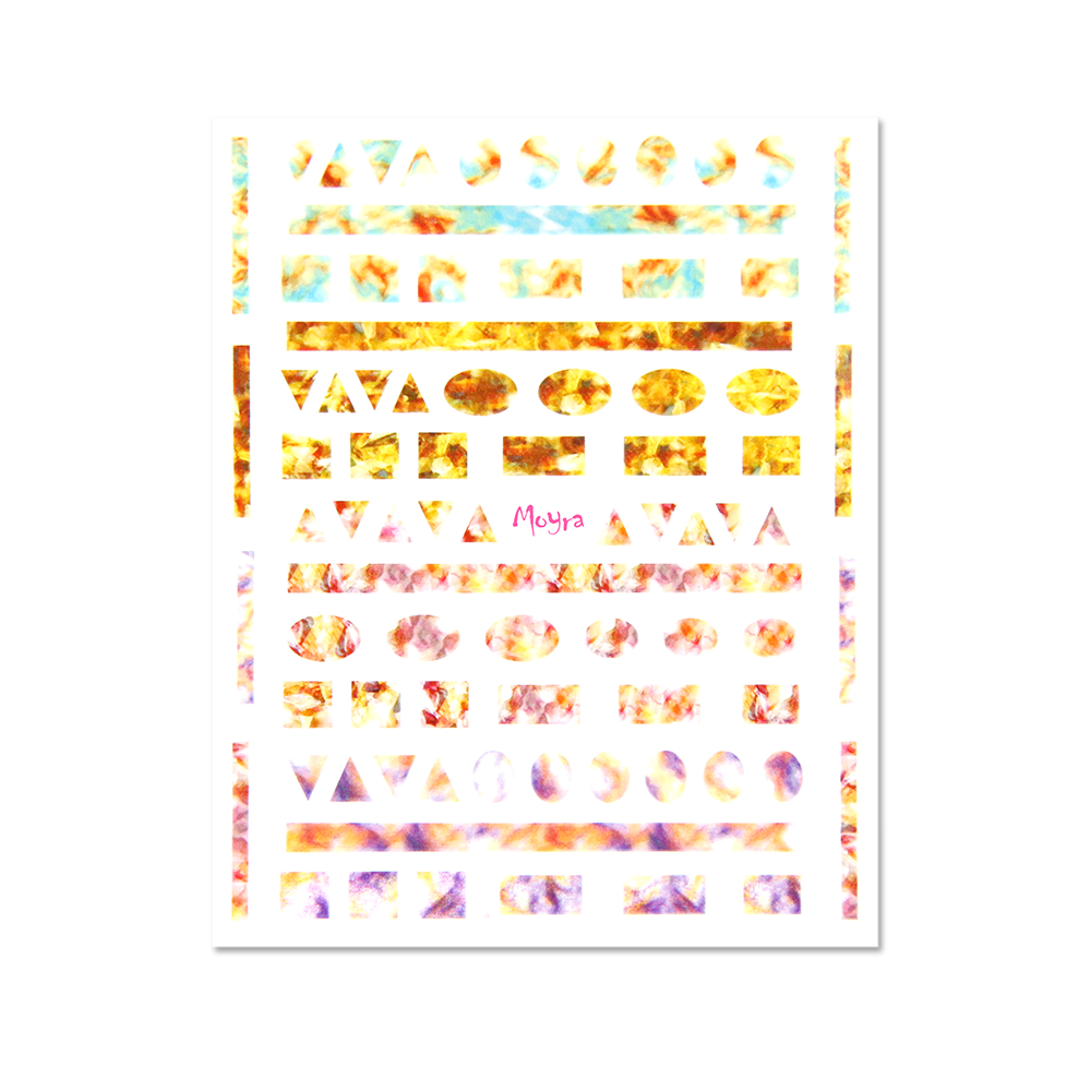Moyra - Geometric Shapes No. 06 Nail Stickers (Orange)