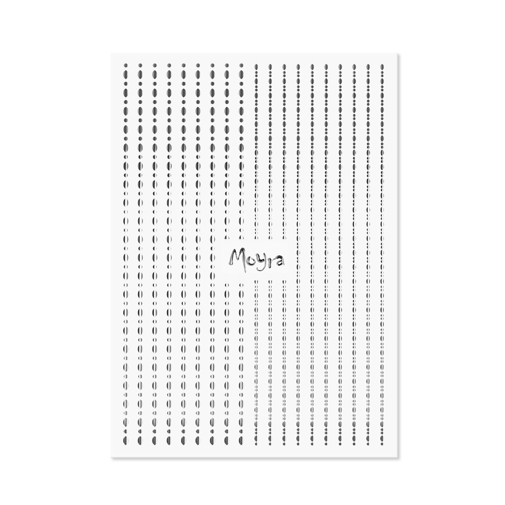 Moyra - Dots No. 02 Sticker Strips (Silver)