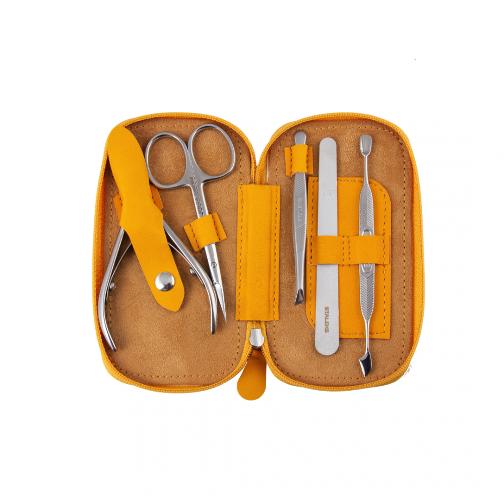 Staleks - Manicure Set - Basic Eco - Mustard Yellow