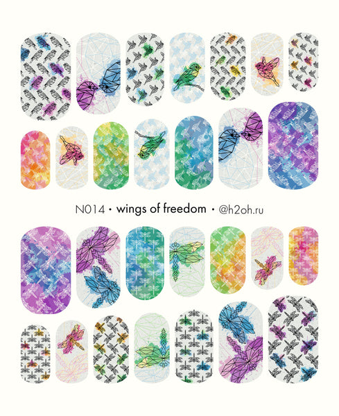 H2Oh! - N014 Wings of Freedom Water Decals