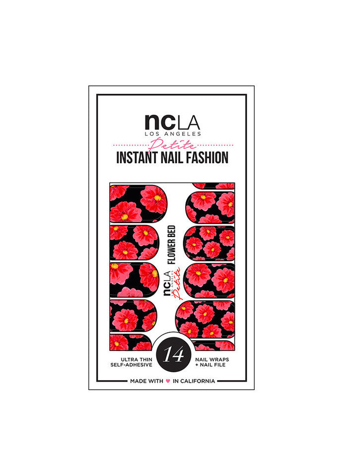 NCLA - Flower Bed Nail Wraps - Petite