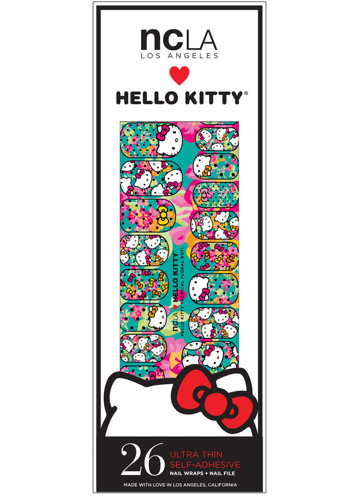 NCLA - Hello Kitty Tropical Floral Dot! Nail Wraps