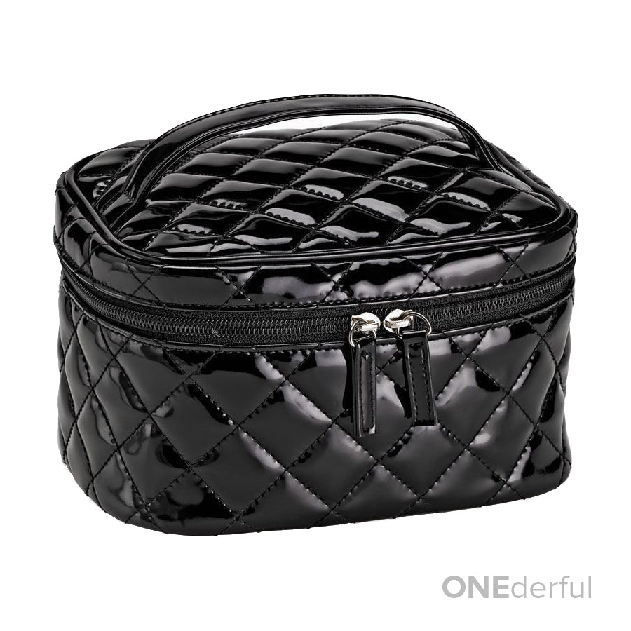 ONEderful - Black Quilted Cosmetic Bag (Medium)