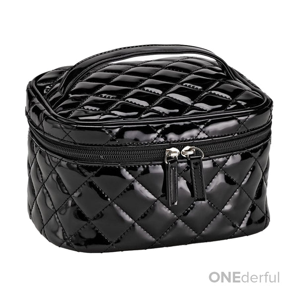 780a8771589d ONEderful - Black Quilted Cosmetic Bag (Me.