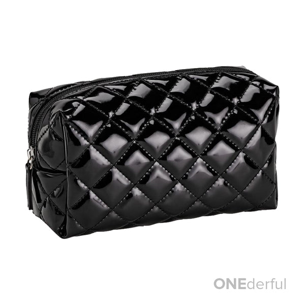 ONEderful - Black Quilted Cosmetic Bag (Small)
