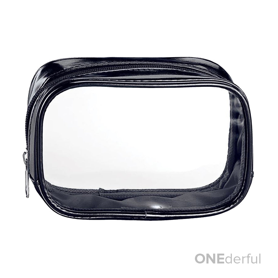 ONEderful - Clear with Metallic Black Small Cosmetic Bag