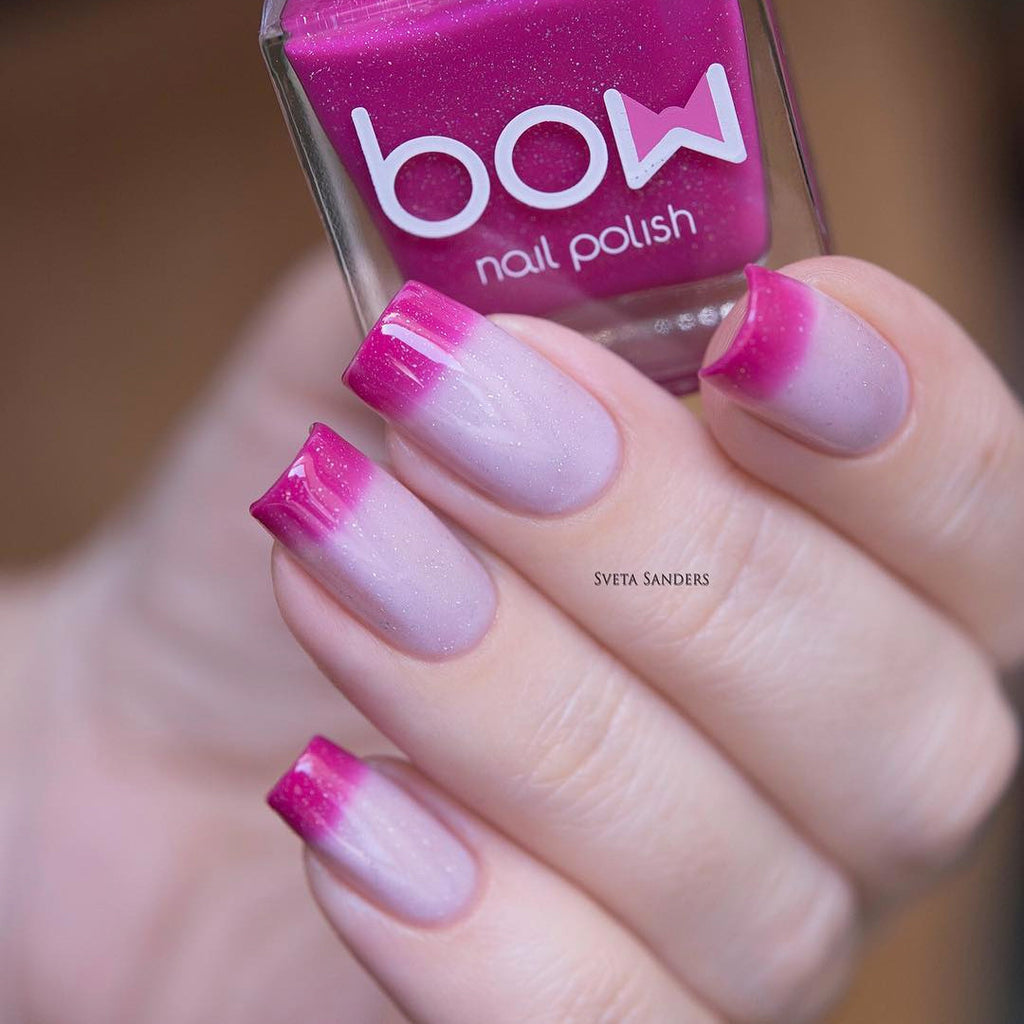 Bow Nail Polish - Thermo Top Coat Pink | Whats Up Nails