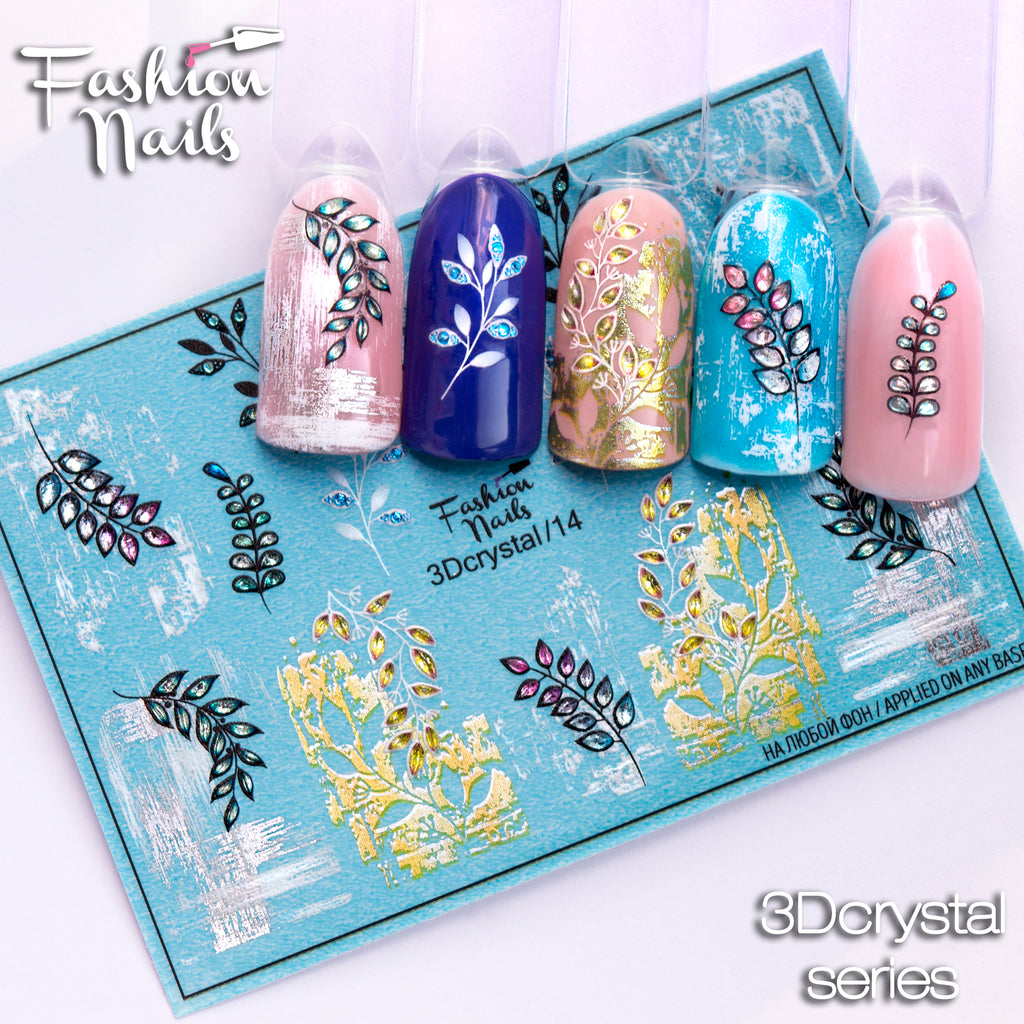 Fashion Nails - 3D Crystal 14 Water Decals