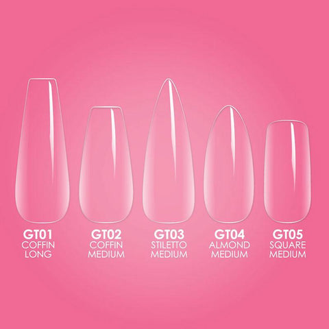 Kiara Sky - Gelly Tips Starter Kit - MEDIUM ALMOND with mini lamp