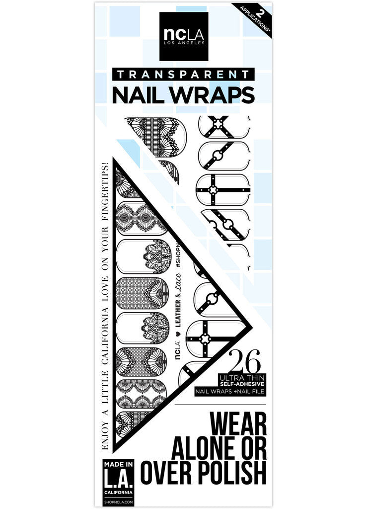 NCLA - Leather and Lace Nail Wraps