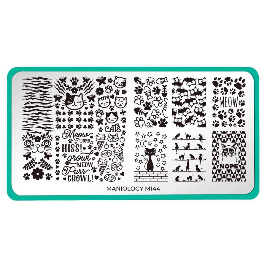 Maniology - Fuzzy & Ferocious XL: M144 Cat People/Feline Lover Stamping Plate