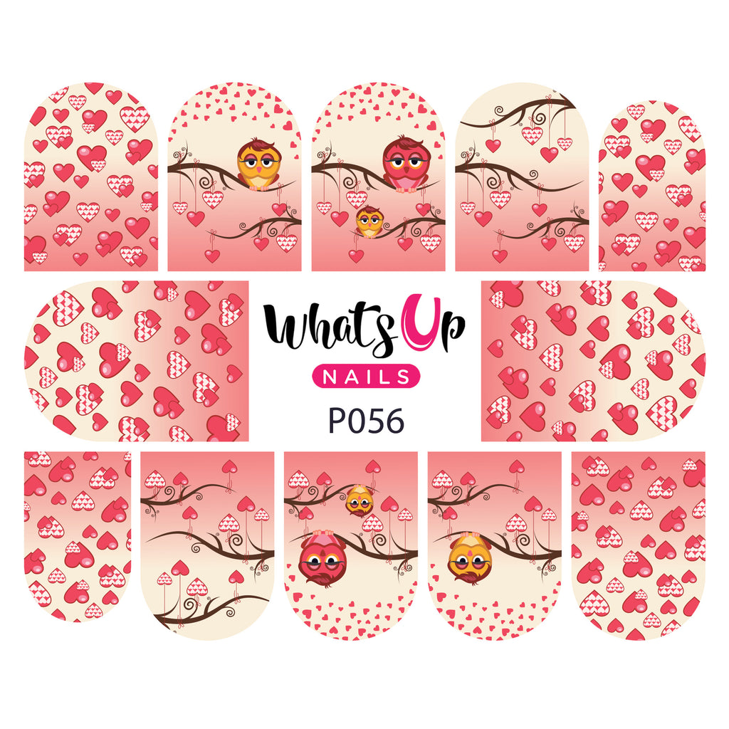 Whats Up Nails - P056 Owl Always Love You Water Decals