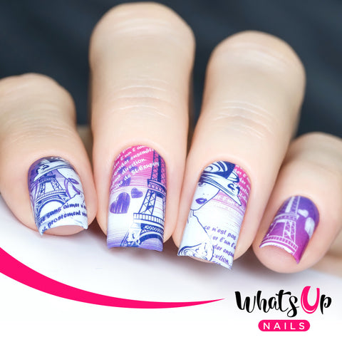 Whats Up Nails - P061 I Heart Paris Water Decals