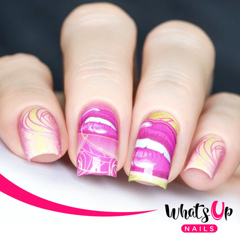 Whats Up Nails - P069 Gimmie a Kiss Water Decals