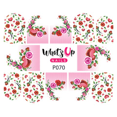 Whats Up Nails - P070 Blooming Love Water Decals