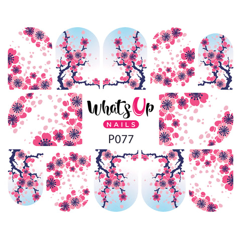 Whats Up Nails - P077 Cherry Blossom Water Decals