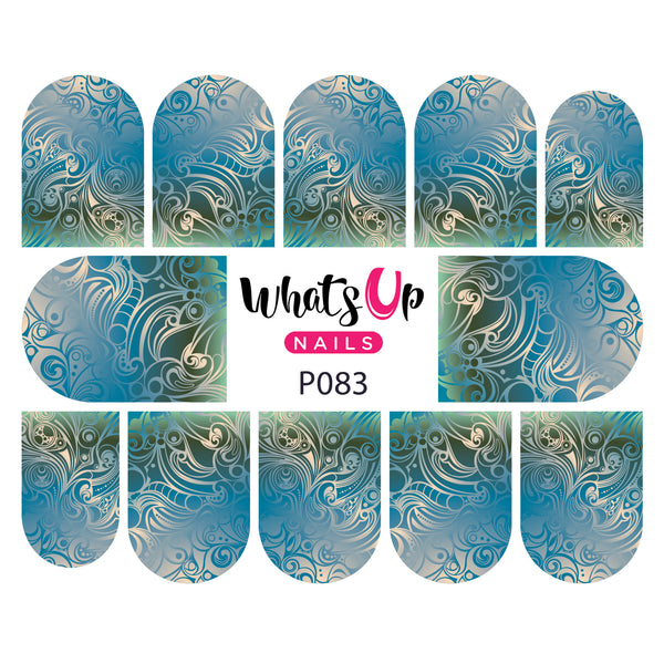 Whats Up Nails - P083 Swirl Sensation Water Decals