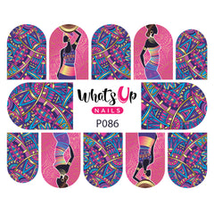 Whats Up Nails - P086 African Beauty Water Decals